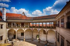 Free Telc Castle As Nice Czech Architecture Royalty Free Stock Photo - 135672825