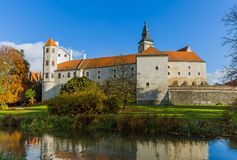 Telc castle in Czech Republic Royalty Free Stock Images