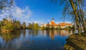 Telc castle in Czech Republic Royalty Free Stock Photos