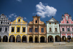 Telc city. royalty free stock photography