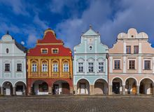 Telc cityscape in Czech Republic Royalty Free Stock Photos