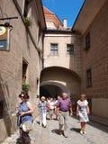 Telc, Czech Republic. Entrance to Telc's old town: Lower Gate, Telc, Czech Republic Royalty Free Stock Photos