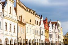 Telc, Czech Republic. Renaissance houses in Telc, Czech Republic Royalty Free Stock Images