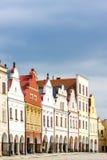 Telc, Czech Republic. Renaissance houses in Telc, Czech Republic Stock Photo