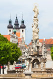 Telc in Czech Republic, Unesco city. Marian column. Royalty Free Stock Images