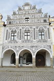Telc. Historic building in Telc in Czech republic Royalty Free Stock Image
