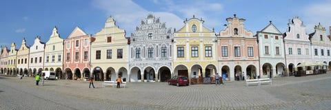 Telc. Historic buildings in Telc in Czech republic Stock Photo