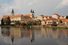 Telc, republika czech, UNESCO Zdjęcie Royalty Free