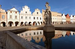 Telc or Teltsch town square Royalty Free Stock Images