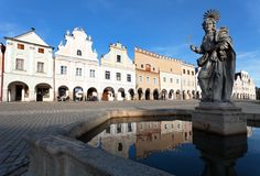 Telc or Teltsch town square Stock Images