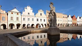 Telc or Teltsch town square Royalty Free Stock Photography