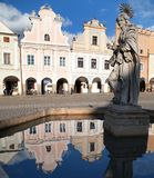 Telc or Teltsch town square Royalty Free Stock Image