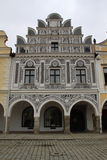 Telc town sgraffito Stock Photography