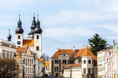 Telc, Tsjechische Republiek Stock Foto's