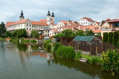 Telc, UNESCO city in Czech Republic Stock Photo