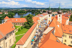 Telc, view on old town (a UNESCO world heritage site) Stock Photography