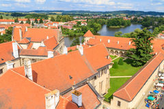 Telc, view on old town (a UNESCO world heritage site) Stock Image