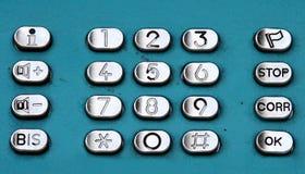 Telclado numérico imagen de archivo