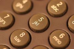 Telclado numérico Foto de archivo libre de regalías