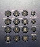 Telclado numérico azul del teléfono Foto de archivo libre de regalías