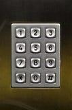 Telclado numérico de acero numérico, concepto de números Imagen de archivo libre de regalías