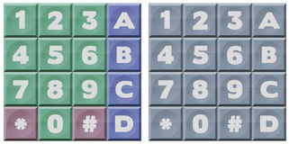 Telclado numérico de DTMF Imagenes de archivo
