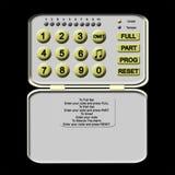 Telclado numérico de la alarma de ladrón Foto de archivo libre de regalías