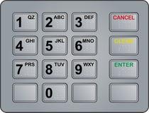 Telclado numérico de la atmósfera Foto de archivo libre de regalías