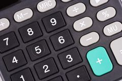 Telclado numérico de la calculadora foto de archivo libre de regalías