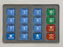 Telclado numérico de la seguridad Foto de archivo libre de regalías