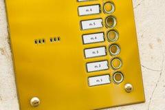 Telclado numérico del metal del intercomunicador Imagenes de archivo
