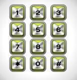 Telclado numérico del metal del vector ilustración del vector