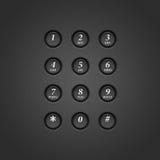 Telclado numérico del teléfono