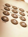 Telclado numérico del teléfono Foto de archivo libre de regalías