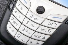 Telclado numérico del teléfono celular Foto de archivo libre de regalías