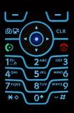 Telclado numérico del teléfono celular Imagen de archivo libre de regalías