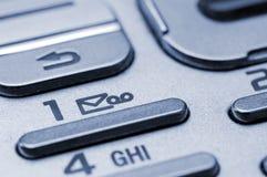 Telclado numérico del teléfono celular Fotografía de archivo