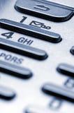 Telclado numérico del teléfono celular Imagen de archivo