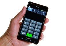 Telclado numérico del teléfono de AT&T Smartphone Fotografía de archivo libre de regalías