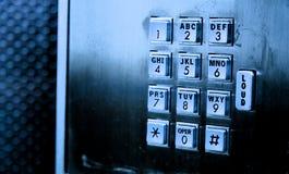 Telclado numérico del teléfono de paga Fotografía de archivo libre de regalías