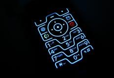 Telclado numérico del teléfono que brilla intensamente Fotos de archivo libres de regalías