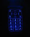 Telclado numérico del teléfono que brilla intensamente Imágenes de archivo libres de regalías