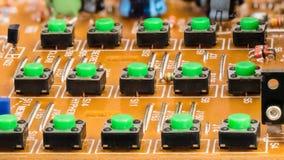Telclado numérico desmontado del teléfono del VoIP Botones en placa de circuito fotos de archivo libres de regalías