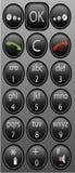 Telclado numérico móvil del teléfono celular Fotografía de archivo