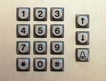 Telclado numérico numérico Imágenes de archivo libres de regalías