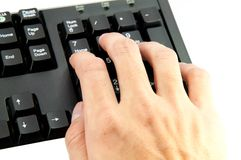 Telclado numérico numérico de la mano Fotos de archivo