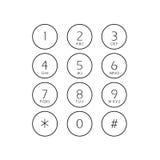 Telclado numérico plano abstracto de la interfaz de usuario Imagenes de archivo