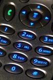 Telclado numérico retroiluminado del teléfono celular Foto de archivo