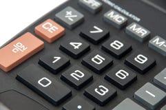 Telclados numéricos en la calculadora digital negra Foto de archivo libre de regalías