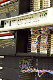 Telco equipment on cellular site. Telco indoor equipment on cellular site Stock Images